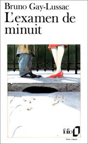 Cover of: L' examen de minuit