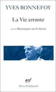 Cover of: La vie errante