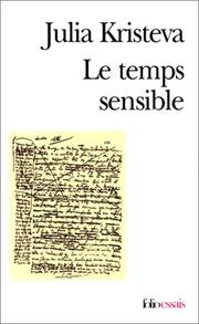 Cover of: Le temps sensible