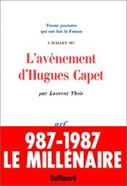 Cover of: L' avènement d'Hugues Capet