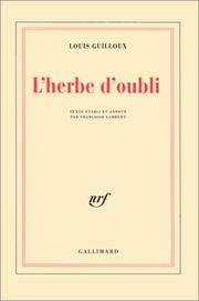 Cover of: L' herbe d'oubli