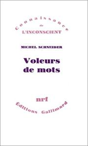 Cover of: Voleurs de mots