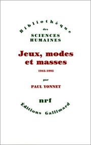 Cover of: Jeux, modes et masses