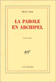 Cover of: La parole en archipel