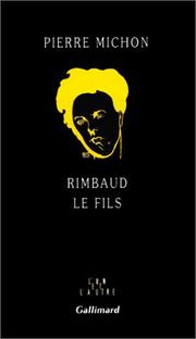 Cover of: Rimbaud le fils