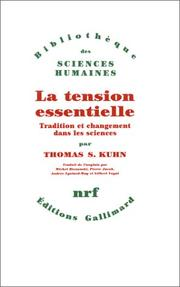 Cover of: La tension essentielle