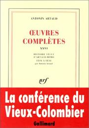Cover of: Oeuvres complète, tome XXVI