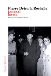 Cover of: Journal, 1939-1945