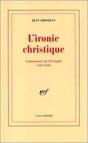 Cover of: L' ironie christique