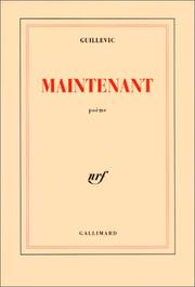 Cover of: Maintenant
