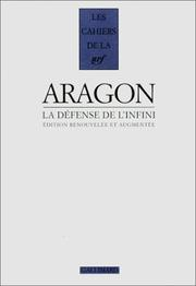 Cover of: La défense de l'infini