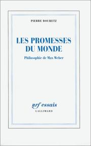 Cover of: Les promesses du monde