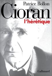 Cover of: Cioran, l'hérétique