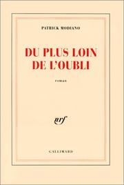 Cover of: Du plus loin de l'oubli