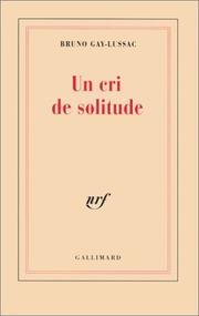 Cover of: Un cri de solitude