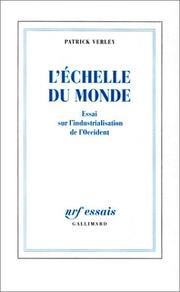 Cover of: L' échelle du monde