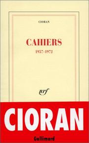 Cover of: Cahiers, 1957-1972