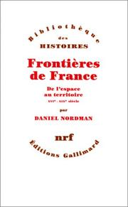 Cover of: Frontières de France