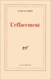 Cover of: L' effacement