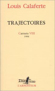 Cover of: Trajectoires