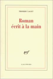 Cover of: Roman écrit à la main