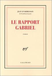 Cover of: Le Rapport Gabriel