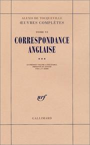 Cover of: Œuvres complètes, tome 6: Correspondance anglaise, volume 3