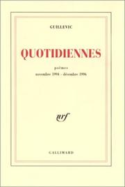 Cover of: Quotidiennes