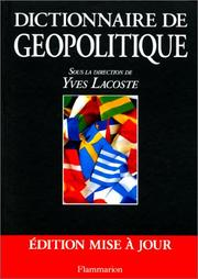 Cover of: Dictionnaire de géopolitique