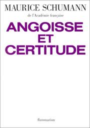 Cover of: Angoisse et certitude