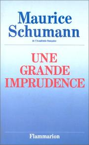 Cover of: Une grande imprudence