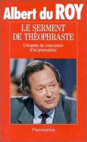 Cover of: Le serment de Théophraste