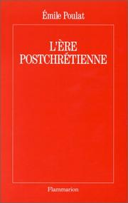 Cover of: L' ère postchrétienne