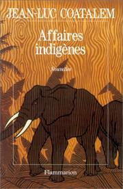 Cover of: Affaires indigènes