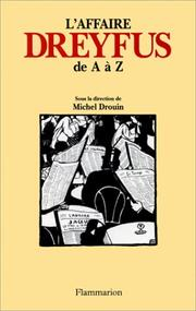 Cover of: L'affaire Dreyfus de A à Z