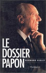 Cover of: Le dossier Papon
