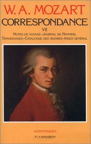 Cover of: Correspondance: édition de la Fondation Internationale Mozarteum Salzbourg