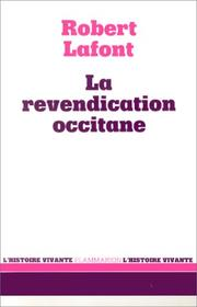 Cover of: La revendication occitane
