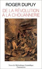 Cover of: De la Révolution à la Chouannerie