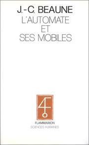 Cover of: L' automate et ses mobiles