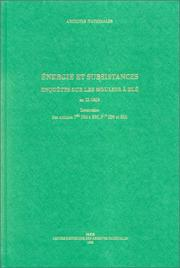 Cover of: Energie et subsistances