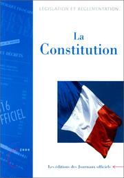 Cover of: The French Constitution