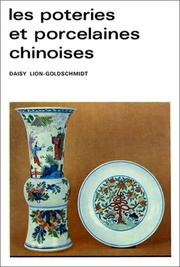 Cover of: Les poteries et porcelaines chinoises