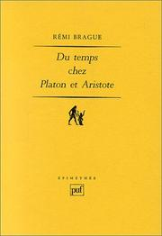 Cover of: Du temps chez Platon et Aristote