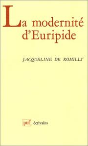 Cover of: La modernité d'Euripide