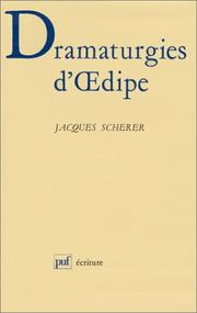 Cover of: Dramaturgies d'Œdipe