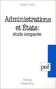 Cover of: Administrations et Etats