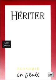 Cover of: Hériter