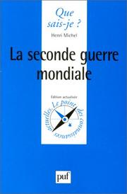 Cover of: La Seconde Guerre Mondiale (Que Sais-je?)