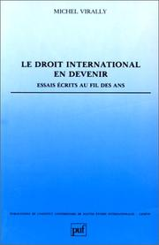 Cover of: Le droit international en devenir
